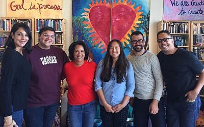 Illustrative: Participants in a think tank event hosted by the Jews of Color Field Building Initiative in Berkeley, California. (Courtesy/Jews of Color Field Building Initiative)
