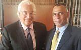 US Ambassador to Israel David Friedman (L) and Palestinian businessman Ashraf Jabari. (Courtesy)