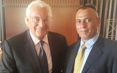 US Ambassador to Israel David Friedman (L) and Palestinian businessman Ashraf Jabari. (Courtesy)