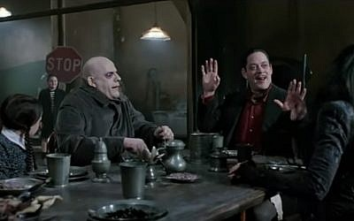 A screen capture from 'The Addams Family' (1991) (YouTube)