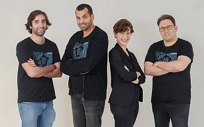 The co-founders of Bonobo.ai, left to right: Ohad Hen, Idan Tsitiat, Efrat Rapoport and Barak Goldstein (Nitzan Gur)