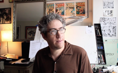 Eli Valley, a Jewish cartoonist whose work has long taken aim at Jewish leaders and institutions, has broadeded his scope during the Trump era. (Screenshot from Vimeo via JTA)