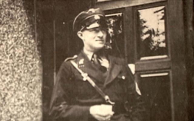 Nazi SS officer Leopold von Mildenstein (Courtesy)