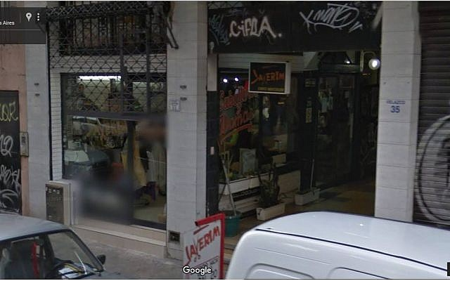 The Jewish barbershop Javerim in Buenos Aires, Argentina. (Google Maps screen capture)