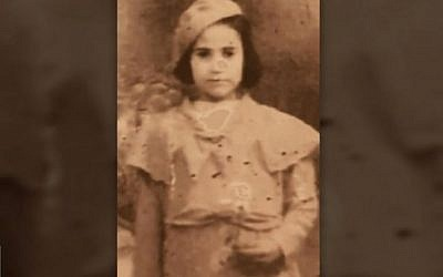Marie Nahmias as a young girl in Tunisia. (Channel 13 screen capture)