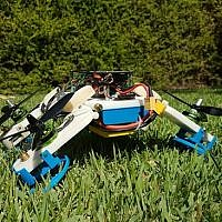 Researchers at Ben-Gurion University of the Negev have developed a hybrid robot that can fly and drive and squeeze into tight spaces using the same motor (Courtesy)