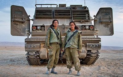 Two Artillery Corps fighters and instructors in Shivta, Israel (Debbie Zimelman via JTA)