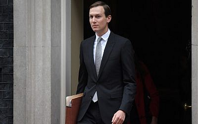 Jared Kushner, US President Donald Trump's special adviser and son-in-law, leaves 10 Downing Street in London on June 4, 2019, on the second day of Trump's three-day State Visit to the UK. (Daniel LEAL-OLIVAS / AFP)
