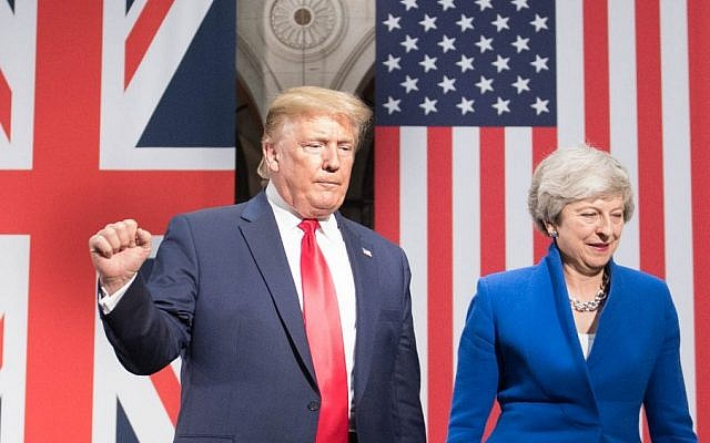 US President Donald Trump (L) and Britain's Prime Minister Theresa May attend a joint press conference at the Foreign and Commonwealth office in London on June 4, 2019. (Stefan Rousseau/Pool/AFP)