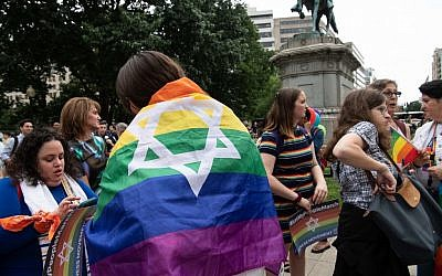 Activists at the Dyke March in Washington, DC, on June 7, 2019. (Nicholas Kamm/AFP)