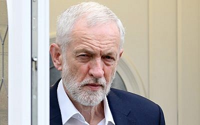 UK Labour Party leader Jeremy Corbyn leaves his house in north London on June 12, 2019. (Isabel Infantes/AFP)
