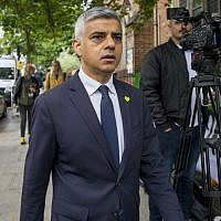 Mayor of London Sadiq Khan arrives for a service of remembrance for the Grenfell tower fire at St. Helen's church in west London on June 14, 2019. (Photo by Tolga Akmen / AFP)