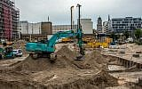 A general view of the construction site close to Berlin's Alexanderplatz where a 100 kilogram bomb from World War II was discovered on June 14, 2019. (John MacDougall/AFP)