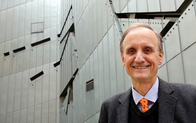 In this file photo taken on August 21, 2014 Director of the Jewish Museum in Berlin Peter Schaefer poses outside the Jewish Museum in Berlin. (Wolfgang Kumm/dpa/AFP) )