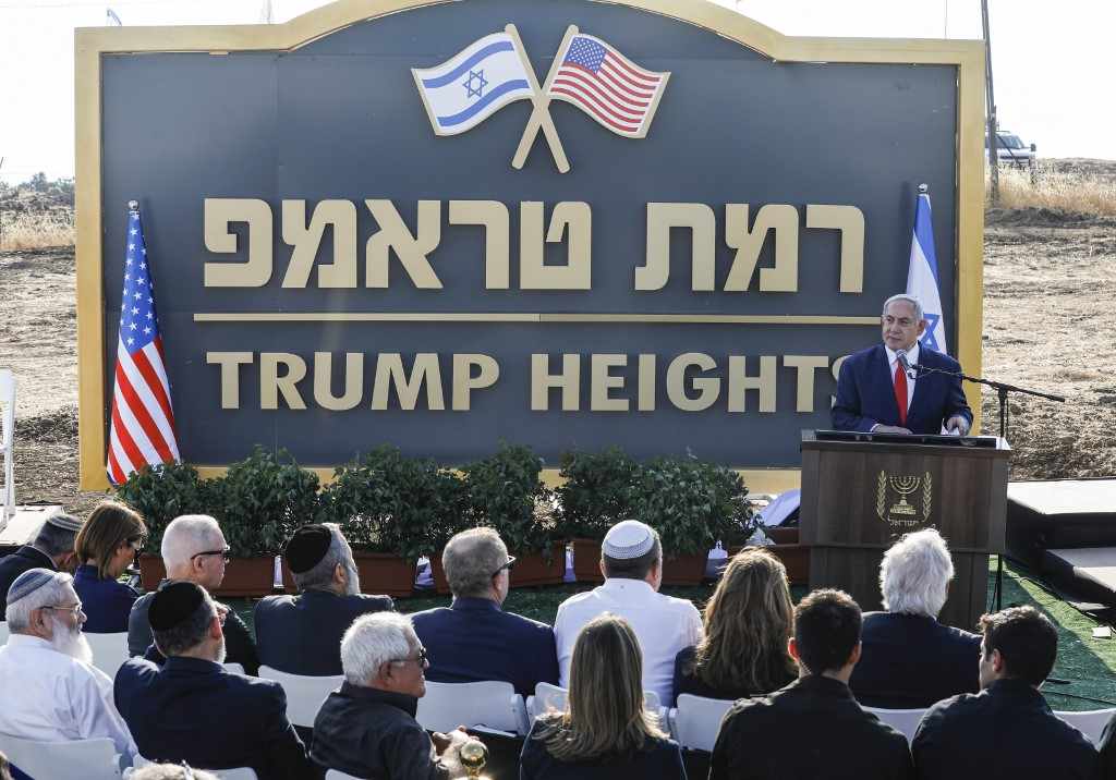 On US president's birthday, Israel okays building plans for 'Trump Heights'