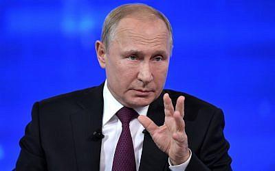 Putin analisa  o pedido de perdão para jovem israelense