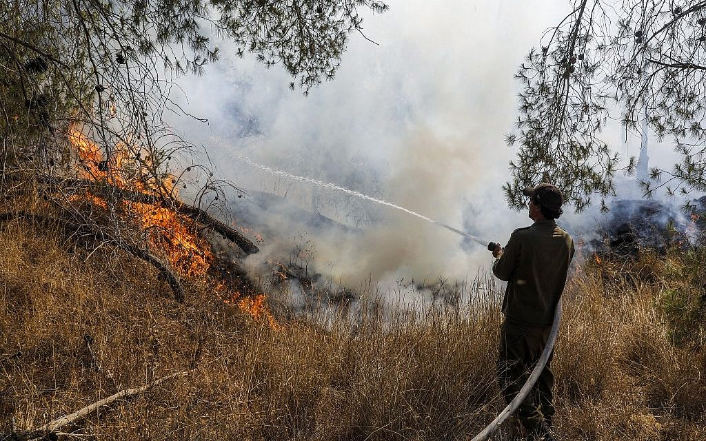 Gaza arson balloons spark 19 blazes in south