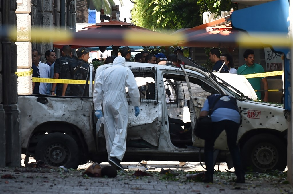 Police Officer Killed As Double Suicide Blasts Rock Tunisia Capital The Times Of Israel