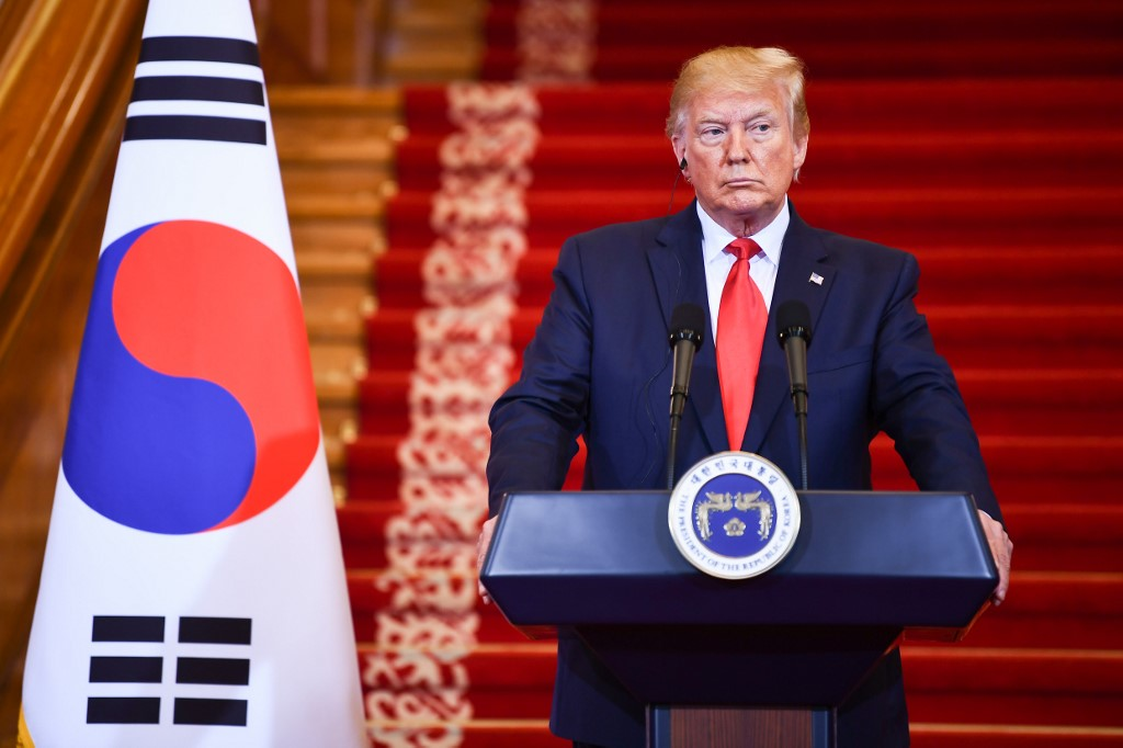 Trump crosses inter-Korean border as 1st sitting United States president
