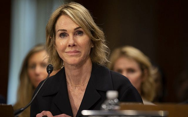 Kelly Craft, President Trump's nominee to be Representative to the United Nations, testifies at her nomination hearing before the Senate Foreign Relations Committee on June 19, 2019 in Washington, DC.  (Stefani Reynolds/Getty Images/AFP)