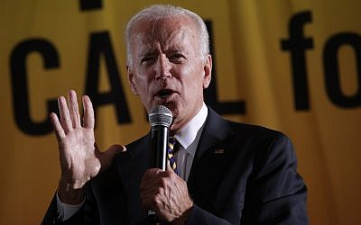 Democratic US presidential hopeful and former Vice President Joe Biden addresses the Moral Action Congress of the Poor People's Campaign on June 17, 2019, at Trinity Washington University in Washington. (Alex Wong/Getty Images/AFP)