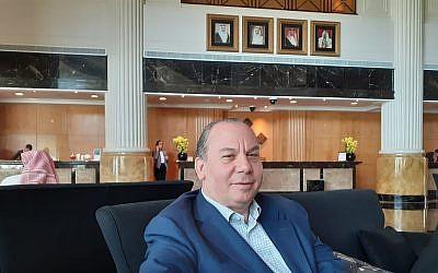 Rabbi Marc Schneier in Manama, Bahrain, June 24, 2019 (Raphael Ahren/Times of Israel)