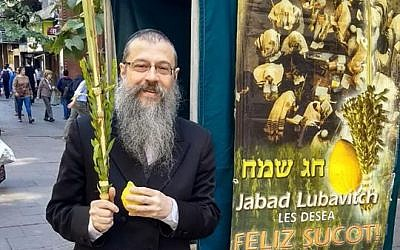 Rabbi Shlomo Tawil, co-director of the Chabad House in Rosario, Argentina. (Facebook)