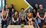 Raz Bachar, center, and the Microsoft for Startups team in Tel Aviv (Courtesy)