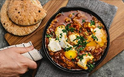 Shakshuka from Simcha. (Adam DeTour/via JTA)