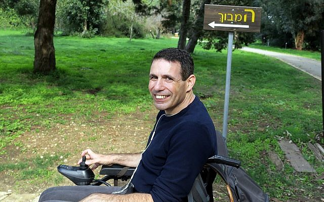 Dan Dori, seen in Israel in 2018, chose assisted suicide at 45 before he became paralyzed by ALS. (Courtesy of the Dori family/via JTA)