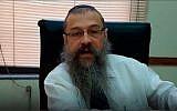 Rabbi Shlomo Tawil, head of the Chabad House in Rosario, Argentina. (Facebook)