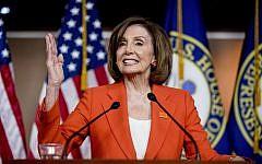House Speaker Nancy Pelosi, Democrat- California, speaks at the Capitol in Washington, June 5, 2019. (Andrew Harnik/AP)