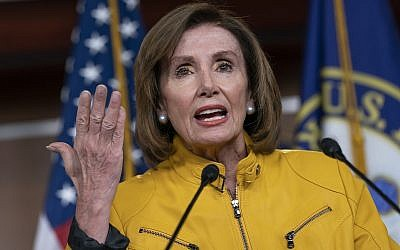 In this June 13, 2019 file photo, House Speaker Nancy Pelosi, a California Democrat, speaks during a news conference on Capitol Hill in Washington. (AP Photo/J. Scott Applewhite)