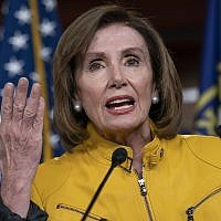 In this photo from June 13, 2019, House Speaker Nancy Pelosi speaks during a news conference on Capitol Hill in Washington. (AP Photo/J. Scott Applewhite)