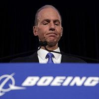 n this Monday, April 29, 2019 file photo, Boeing Chief Executive Dennis Muilenburg speaks during a news conference after the company's annual shareholders meeting at the Field Museum in Chicago. (AP Photo/Jim Young, file)