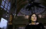 Writer Linda Grant poses for photographers prior to the Man Booker Prize for Fiction 2008 Shortlist party in central London, Tuesday Sept. 9, 2008. (AP Photo/Lefteris Pitarakis)