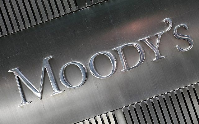 This August 2010 file photo shows a sign for Moody's Corp. in New York (AP Photo/Mark Lennihan, File)