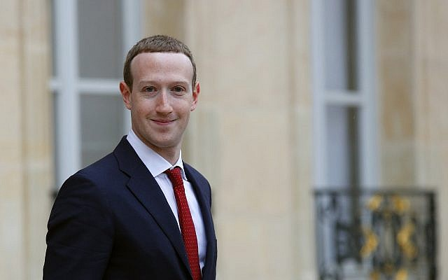 Facebook CEO Mark Zuckerberg leaves the Elysee Palace after his meeting with French president Emmanuel Macron, in Paris, Friday, May 10, 2019.  (AP Photo/Francois Mori)