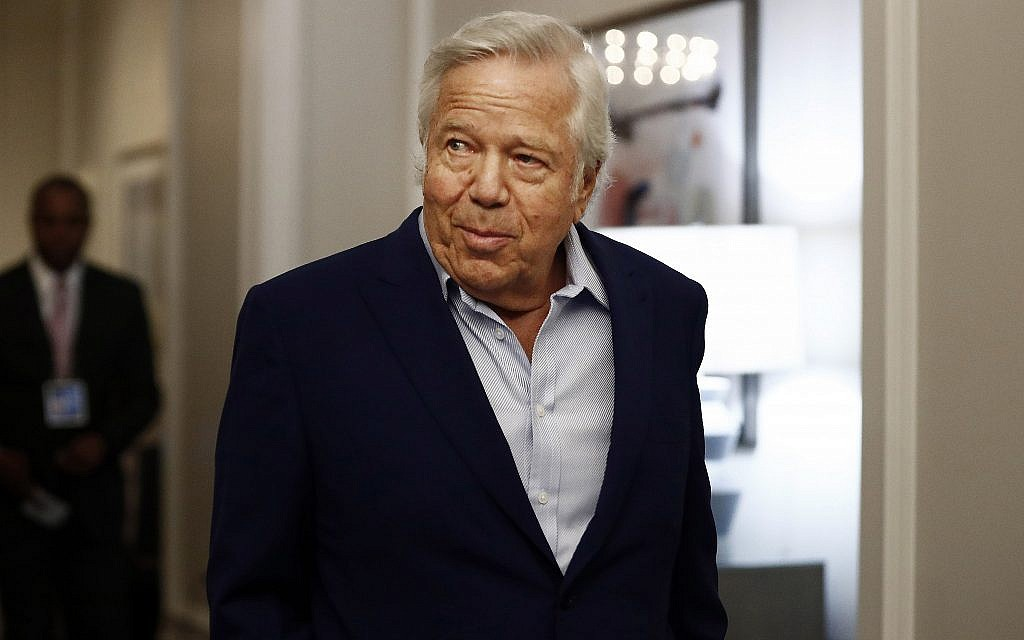 Trailed by prostitution scandal, Robert Kraft ready to feel the love in Israel
