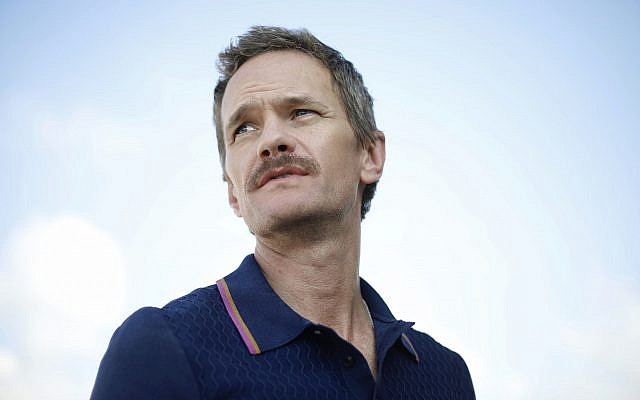 Neil Patrick Harris looks on during an interview with the Associated Press in Tel Aviv on June 12, 2019 (AP Photo/Ariel Schalit)