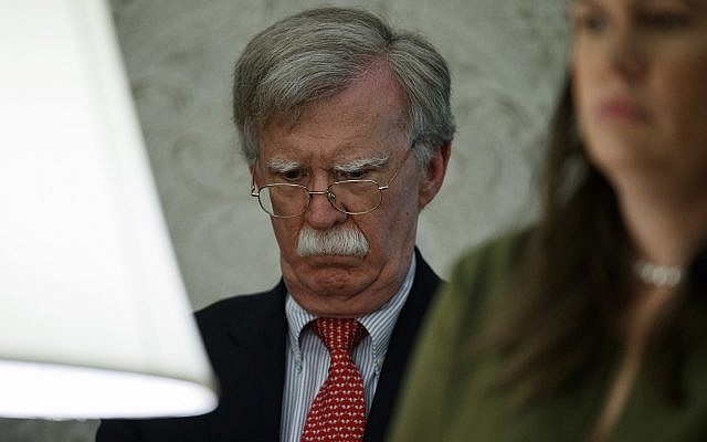 National security adviser John Bolton in the Oval Office of the White House, June 20, 2019, in Washington. (Evan Vucci/AP)