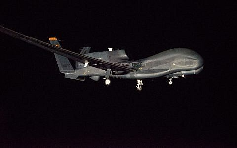 Illustrative: A Northrop Grumman Global Hawk unmanned aircraft (GLOBE NEWSWIRE via AP)