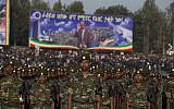 Illustrative: Soldiers stand at attention in Meskel Square at the start of a public funeral ceremony for late Prime Minister Meles Zenawi, in Addis Ababa, Ethiopia Sunday, Sept. 2, 2012.  (AP/Rebecca Blackwell)