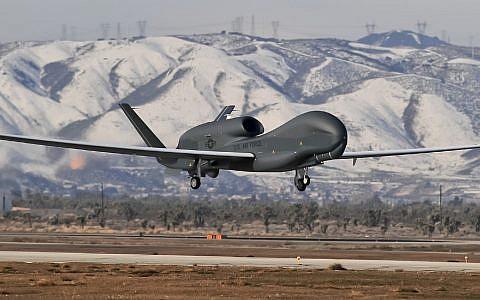 Illustrative: A Northrop Grumman Global Hawk unmanned aircraft (GLOBE NEWSWIRE via AP)