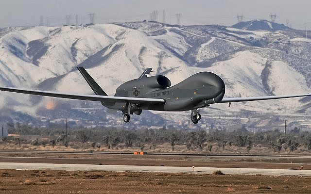 Illustrative: A Northrop Grumman Global Hawk unmanned aircraft. (Globe Newswire via AP)