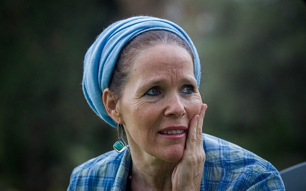 Rachelle Fraenkel, mother of Jewish teenager Naftali Fraenkel who was kidnapped and murdered earlier this summer, seen during an interview, in Nof Ayalon, central Israel, on December 18, 2014.  (Miriam Alster/FLASH90)