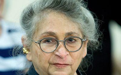 Nechama Rivlin, wife of President Reuven Rivlin, on June 16, 2016. (Moshe Shai/FLASH90)