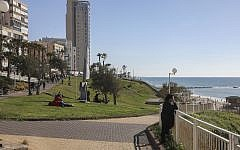 The Bat Yam promenade in Central Israel on March 4, 2017. (Issac Harari/Flash90)