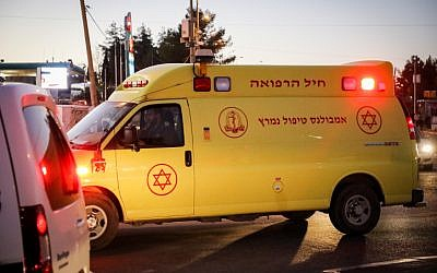 Illustrative - A Magen David Adom mobile intensive care unit. (Gershon Elinson/Flash90)