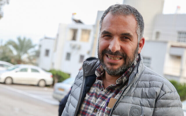 Ron Cobi, mayor of Tiberias seen outside Tiberias municipality building in northern Israel, April 1, 2019. (David Cohen/Flash90)